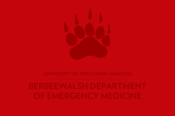 Badger paw with department name